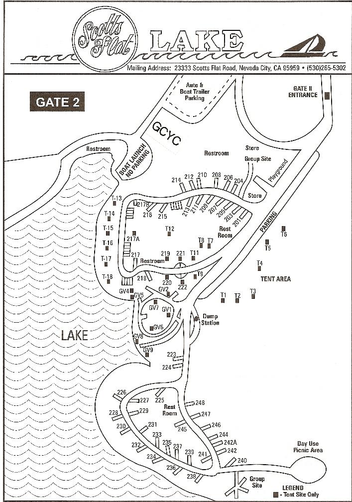 scotts flat lake map Scotts Flat Lake Camping Map scotts flat lake map